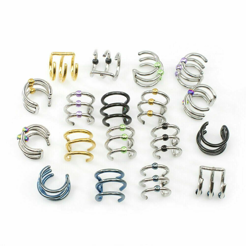 Ear Cuffs Pairs No Duplicates No Piercing Needed Surgical Steel Pack Of 9