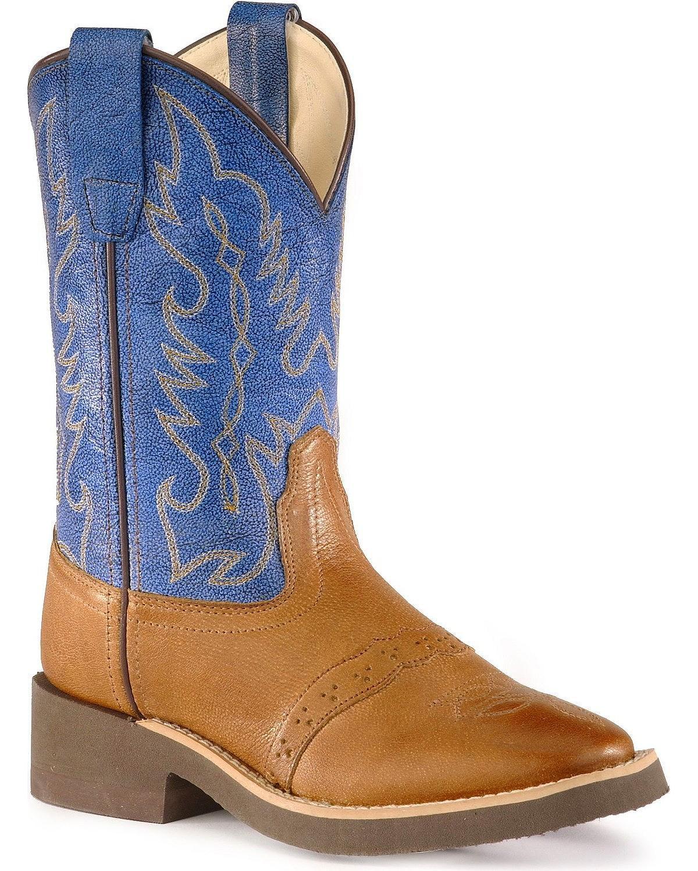 Old West Boys' Crepe Sole Cowboy Boot - 1729Y