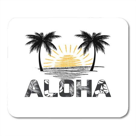 KDAGR Palm Aloha Hawaii Best Creative for Presentation Tree Abstract Beach Mousepad Mouse Pad Mouse Mat 9x10