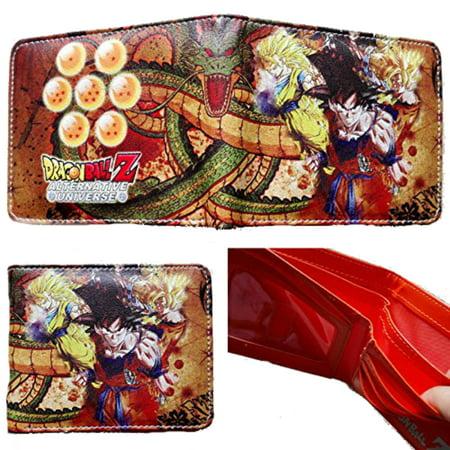 Superheroes dragon ball z goku bi fold mens boys wallet for Dragon gifts for men
