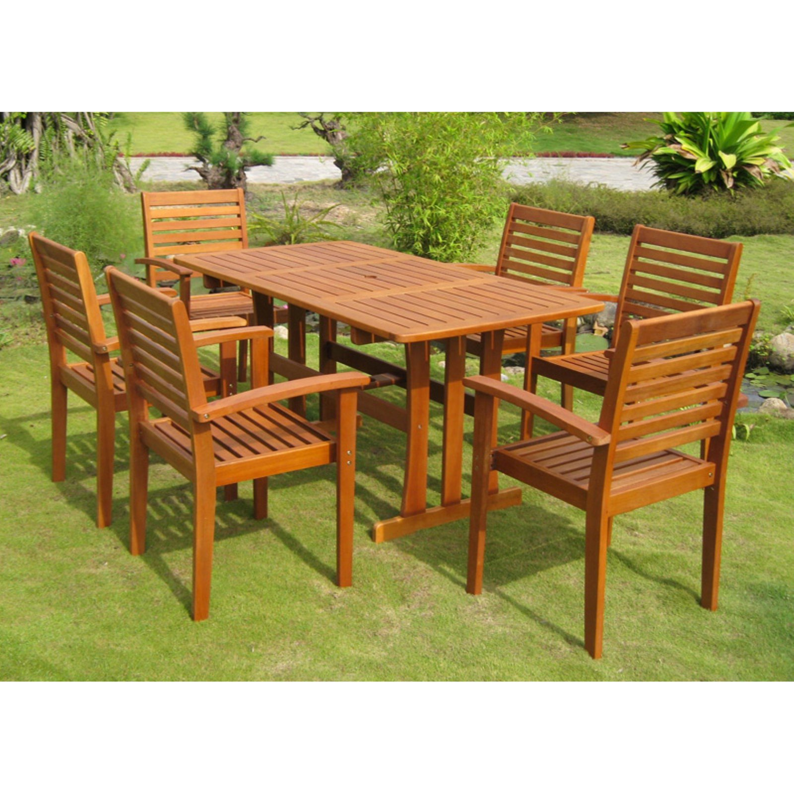 International Caravan Royal Tahiti Badalona Patio Dining Set