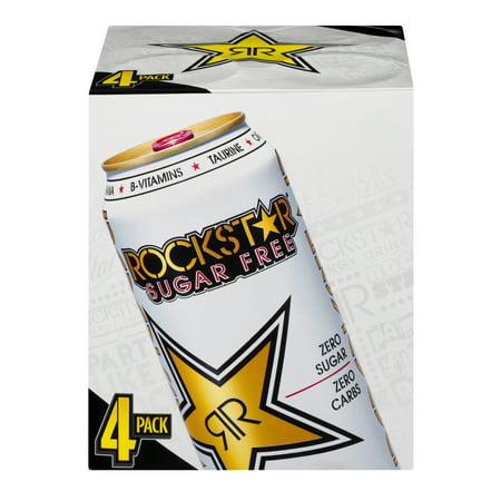 Rockstar Sugar Free Energy Drink  Original  16 Fl Oz  4 Count