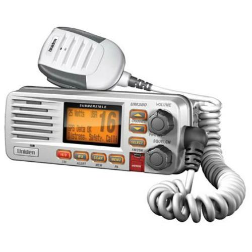 Uniden UM380 Class D VHF Marine Radio with LCD Display & ANL