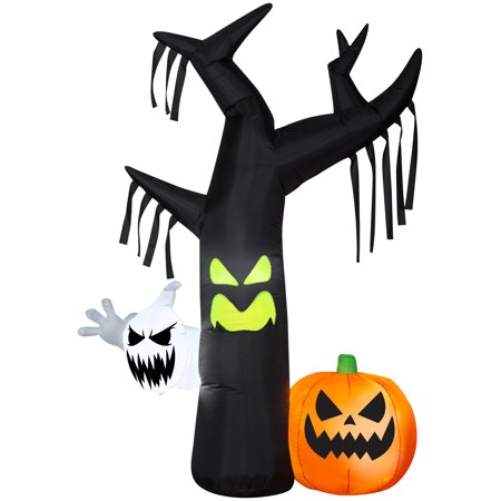 Halloween Airblown Inflatable Ghostly Tree Scene 7FT Tall by Gemmy (Halloween Inflatables)