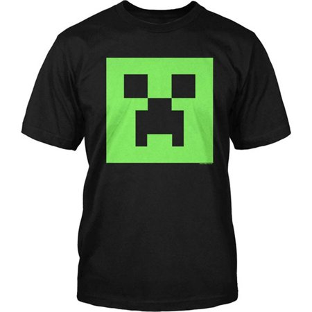 Minecraft Creeper Glow in the Dark Face Youth - Minecraft T Shirts