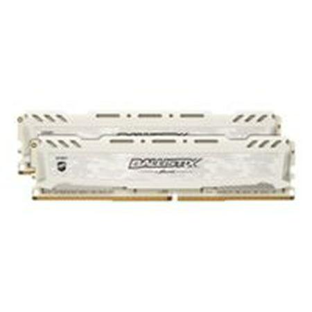 Ballistix Sport LT 16GB Kit (8GBx2) DDR4 2666 MT/s (PC4-21300) CL16 SR x8 DIMM 288-Pin - BLS2K8G4D26BFSCK