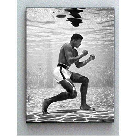 Muhammad Ali Photo (Rare Framed 1961 Muhammad Ali Training Underwater Vintage Photo. Jumbo Giclée Print)