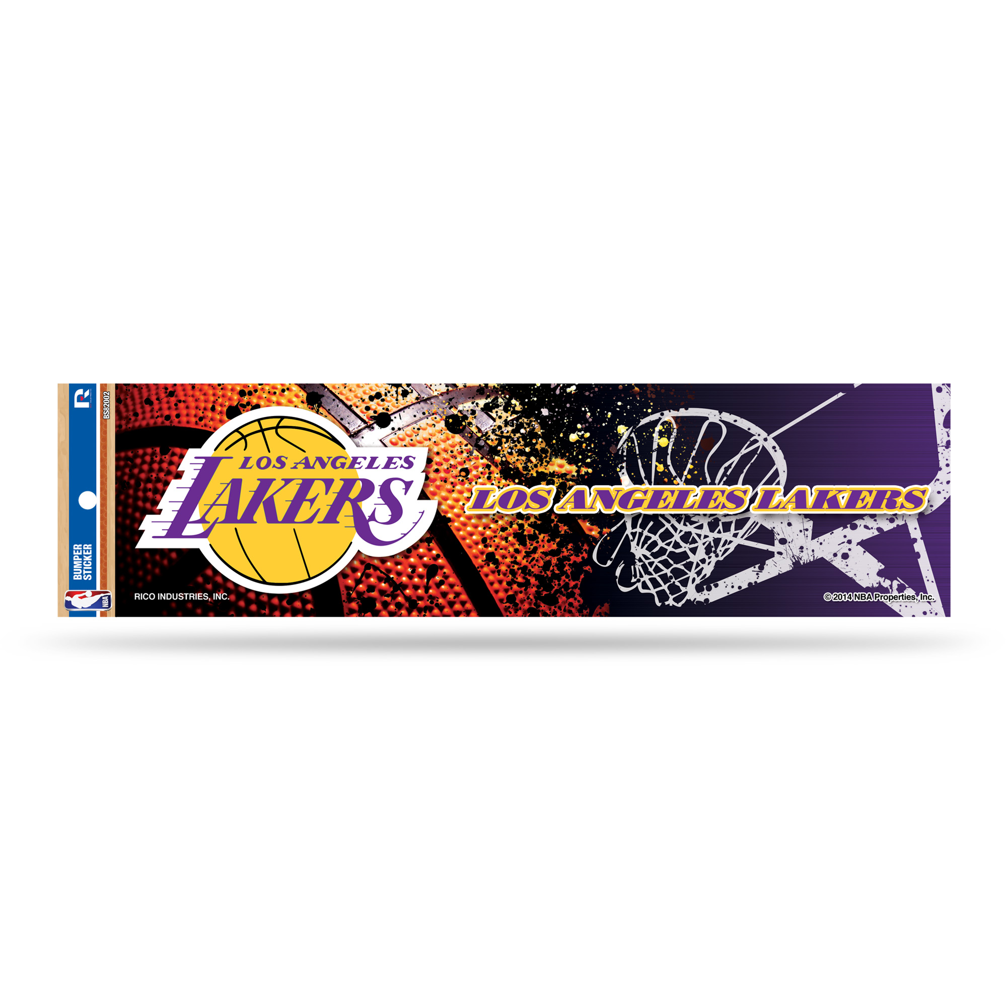 Los Angeles Lakers Official NBA 3 inch x 12 inch  Bumper Sticker by Rico