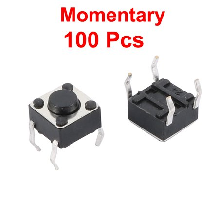 100 Pcs 6x6x4.5mm Panel PCB Momentary Tactile Tact Push Button Switch 4 Pin DIP - image 1 of 2