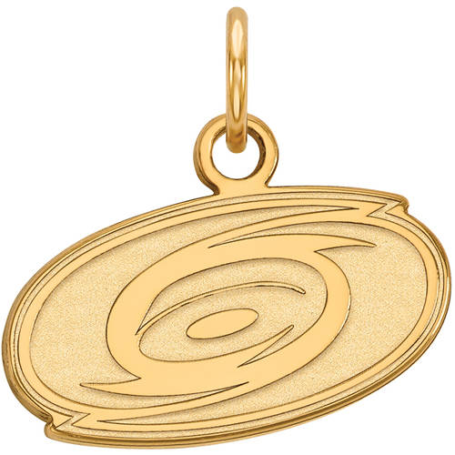 LogoArt NHL Carolina Hurricanes 14kt Gold-Plated Sterling Silver Extra Small Pendant