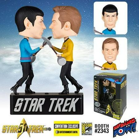 Star Trek Amok Time Kirk vs. Spock Bobble Heads - Con.