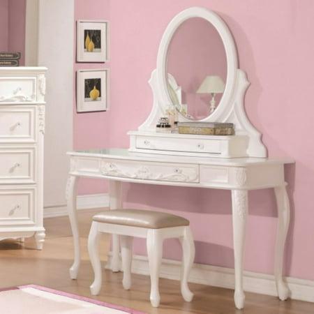 Coaster Company Caroline Collection Vanity Mirror, White (mirror only)