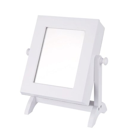 ZEDWELL Make Up Mirrored Jewelry Cabinet Armoire Mini Table Tilting Jewelry Organizer ()