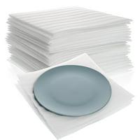 California Basics Cushion Foam Sheets, Foam Wrap Moving Supplies, 50-ct