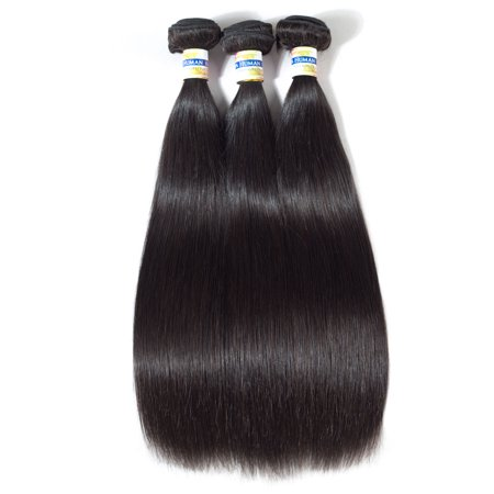 YYONG Hair Product Brazilian Virgin Hair Straight 3 Pcs Lot Weave Bundles Unprocessed Human Hair Free Shipping, (Best Products For Virgin Brazilian Hair)