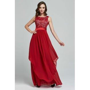 Slim Prom Gown - Women Slim Long Prom, Wedding Dress Red