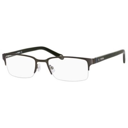 - FOSSIL Eyeglasses 6024 062J Matte Dark Ruthenium 53MM