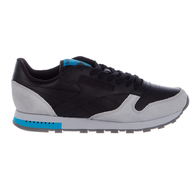 Reebok CL Leather Grey Fashion Sneaker Mens by Reebok