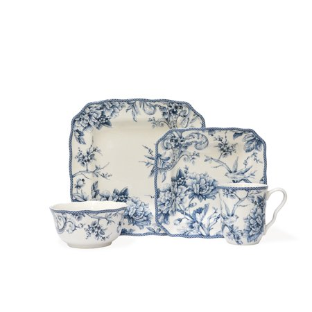 222 Fifth : Adelaide Blue 16 Piece Dinnerware Set 222 Fifth China