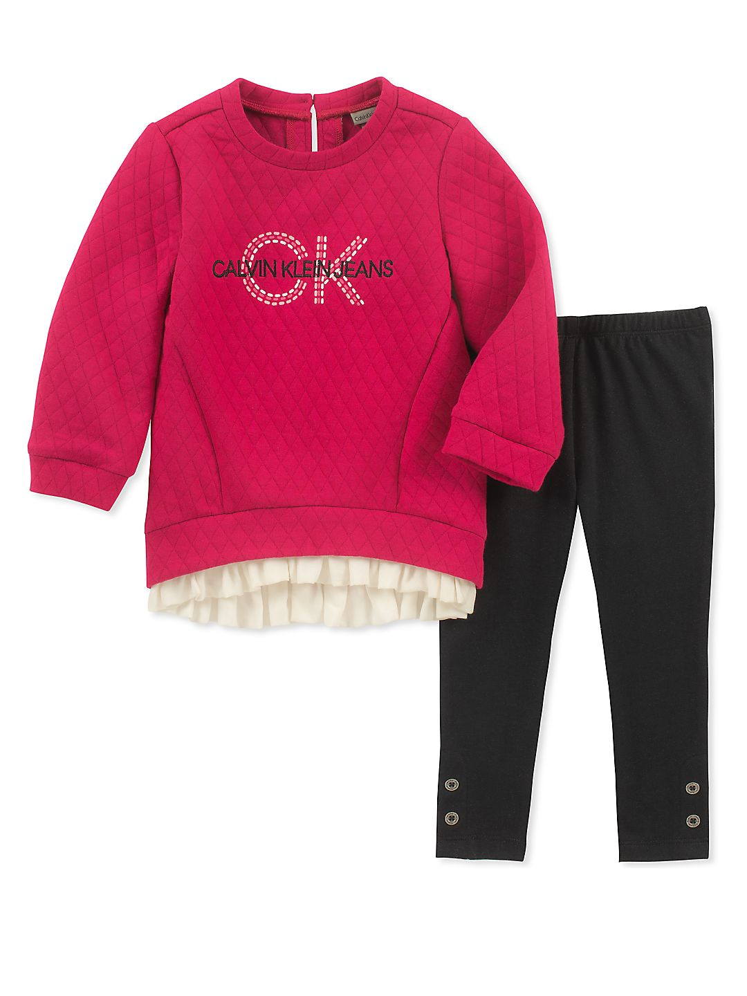 Little Girl's Two-Piece Tunic and Leggings Set
