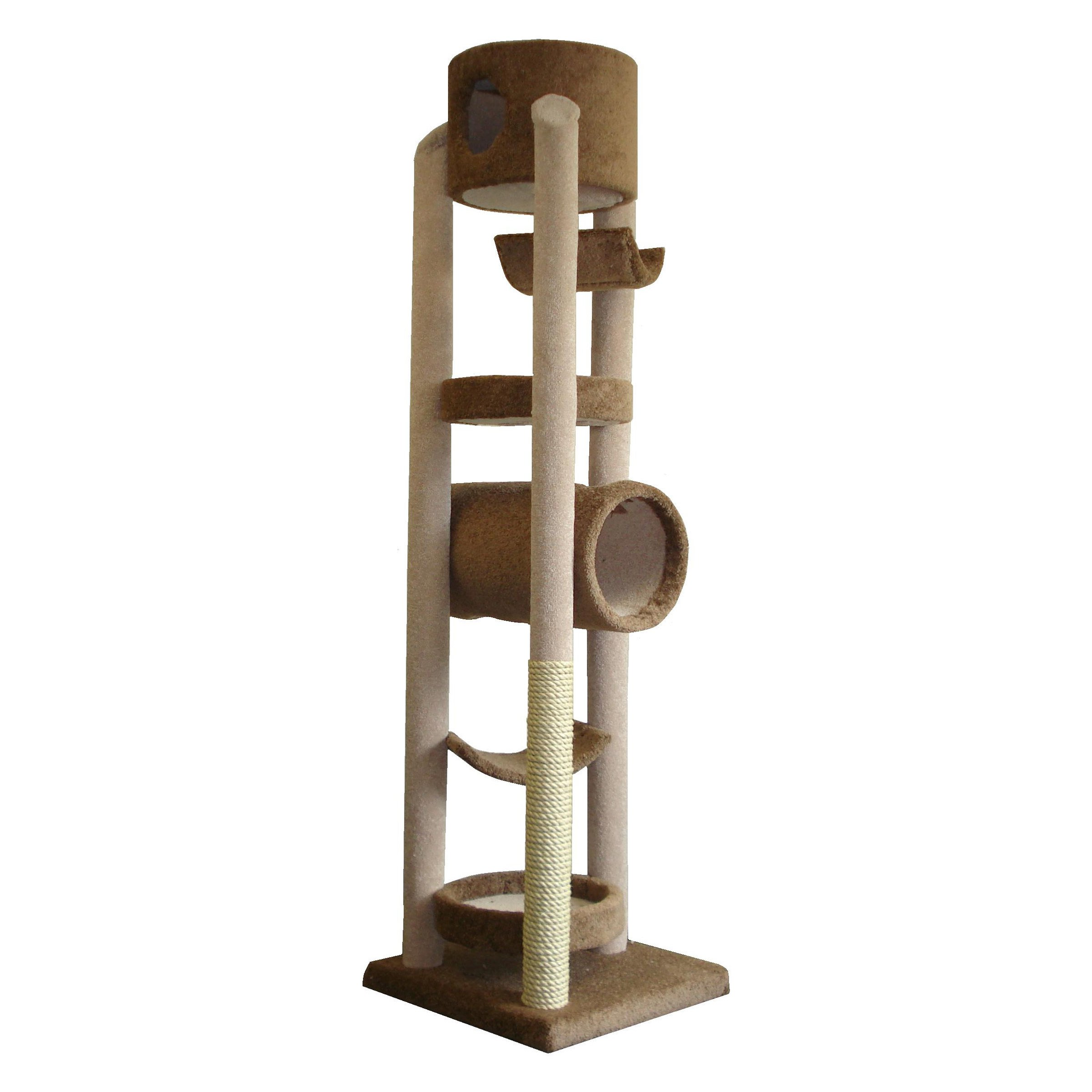 Molly and Friends VIRGIE Green Five Tier Unit Cat Tower