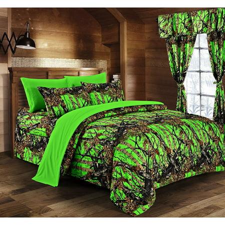 Regal Comfort Biohazard Green Camouflage King 8pc