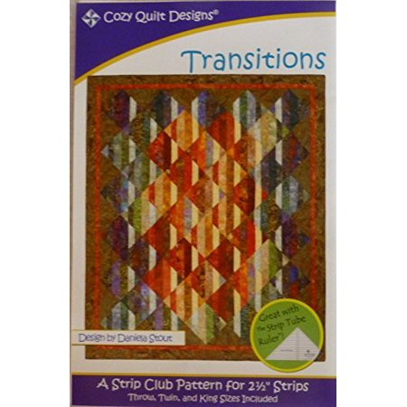 Pattern Transitions Using 2 and One Half Inch Strips Cozy Quilt Design