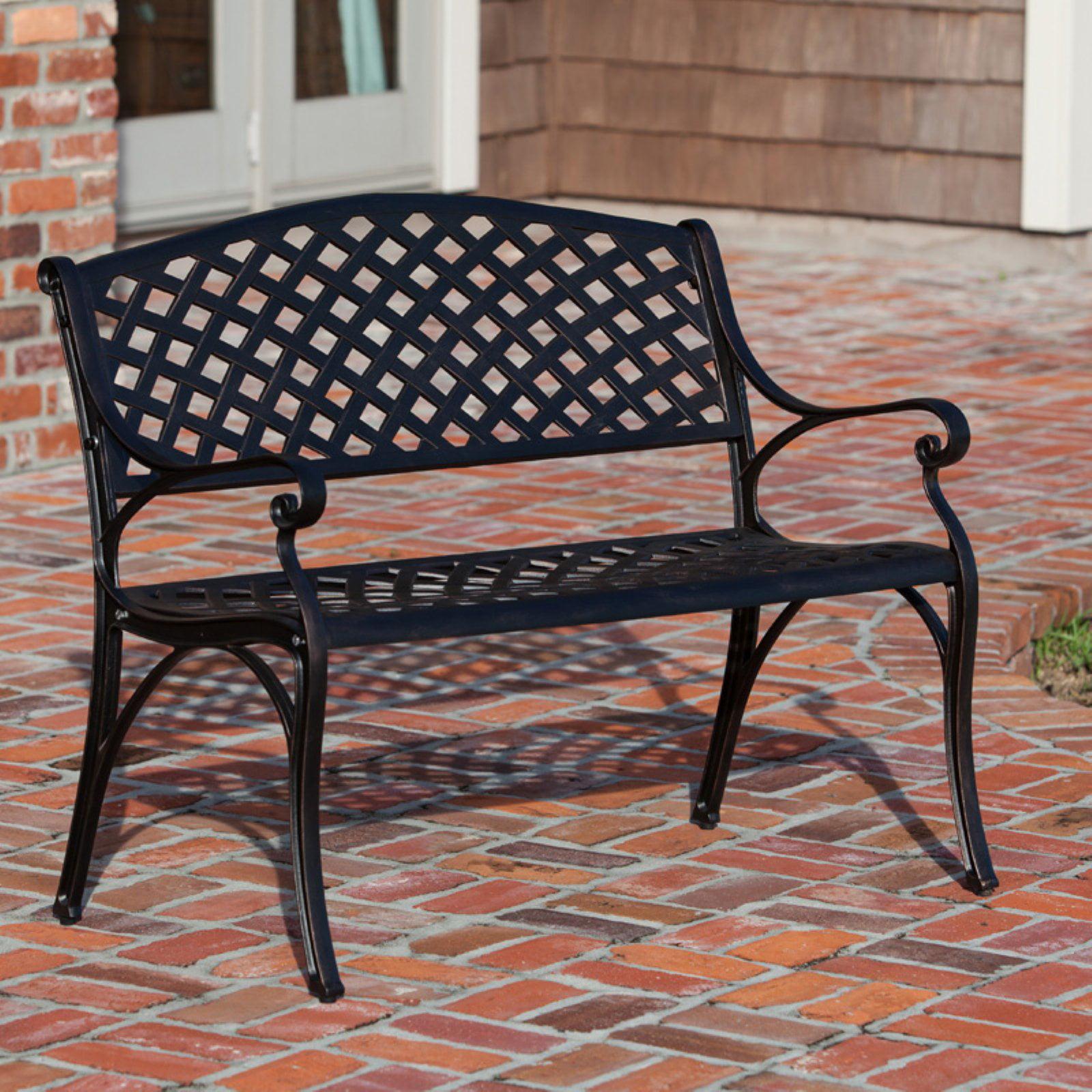 Patio Sense Antique Bronze 40.25 in. Cast Aluminum Bench