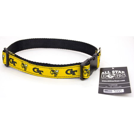 Georgia Tech Yellow Jackets Ribbon Dog Collar