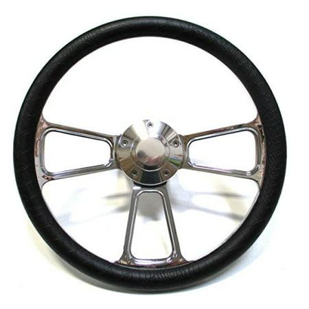 1968 - 1969 Dodge Dart Chrome and Black Steering Wheel, Full Install Kit