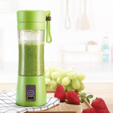 Portable Mini Personal Juicer. Personal Blender USB Charger Fruit Mixing Machine, Mini Fruit Juice Extractor, Electric Rechargeable Mixer (Best Juicer For Greens And Fruit)