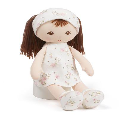 Baby GUND x Little Me Brunette Stuffed Plush Doll Toy, - Stuffed Dolls