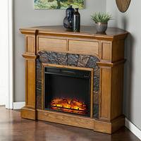 Barkley II Convertible/Corner Electric Fireplace