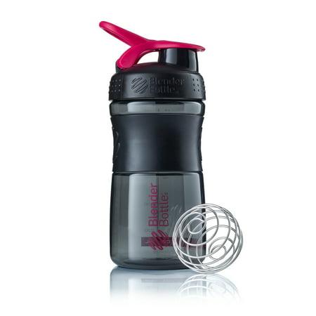 20-oz BlenderBottle SportMixer Shaker Bottle Tritan Grip - Black/Pink (Sport Mixer)