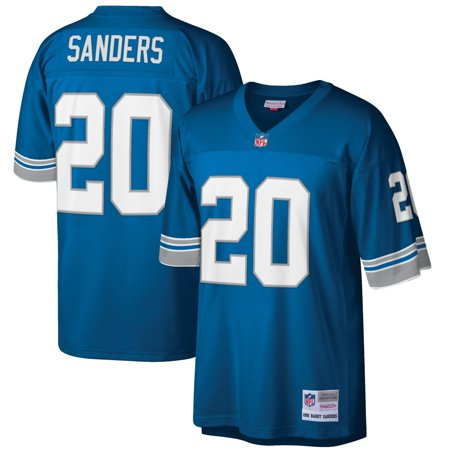 classic fit e3315 bf57b Barry Sanders Detroit Lions Mitchell & Ness Retired Player Vintage Replica  Jersey - Honolulu Blue