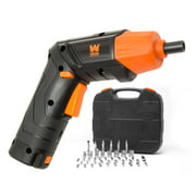 WEN 4V Max Lithium Ion Rechargeable Cordless Electric Screwdriver and Flashlight with Carrying Case and 40+ Accessories