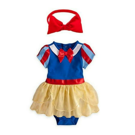 Girl Pimp Costume (Baby Girl Snow White Costume and Headband (12-18)