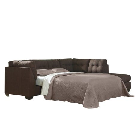 Ashley maier 2 piece right fabric chaise sleeper sectional for Andrea 2 piece sleeper chaise