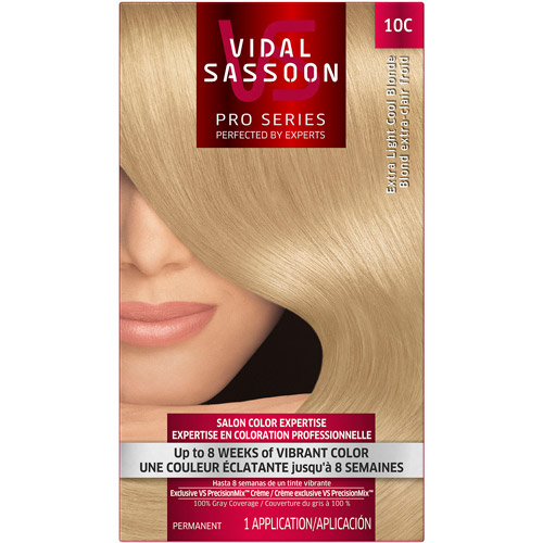 Vidal Sassoon Pro Series Hair Color 10C Extra Light Cool Blonde 1 Kit