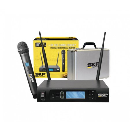 - SKP PRO AUDIO UHF-295 Single-Channel UHF True Diversity Wireless Microphone System