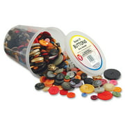 Hygloss Bucket 'O Buttons, Assorted Buttons, 16oz with Resealable Storage Container