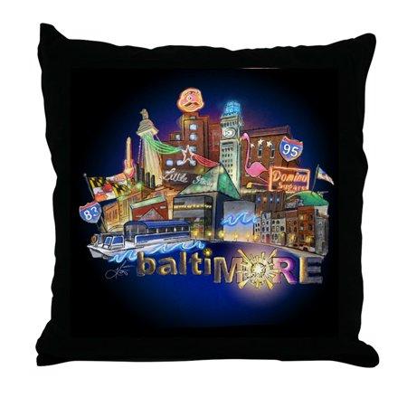 "CafePress - Baltimore - Decor Throw Pillow (18""x18"")"