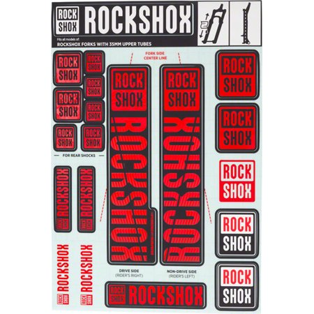 RockShox Decal Kit 35mm Red