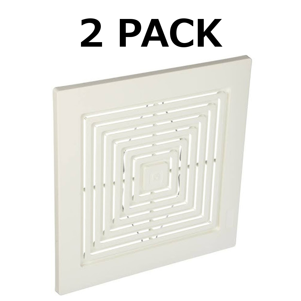 S97011723 Broan Bath Bathroom Ceiling Fan Grille Grill Cover Plastic White Color 2 Pack