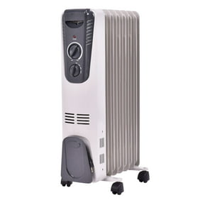 1500W Electric Oil Filled Radiator Space Heater Thermostat ... oil heater thermal fuse Walmart