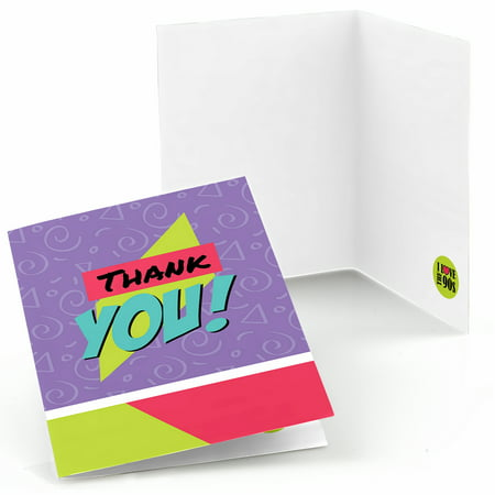 90's Throwback - 1990s Party Thank You Cards (8 count) for $<!---->