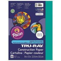 9 x 12 in. Tru Ray Turquoise Construction Paper - 50 Sheet per Pack