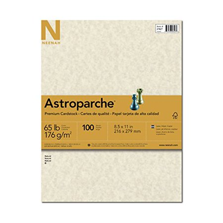 Neenah Astroparche Specialty Cardstock, 8.5 X 11 Inches, Natural, 100 Count (2742) Specialty Paper Cardstock