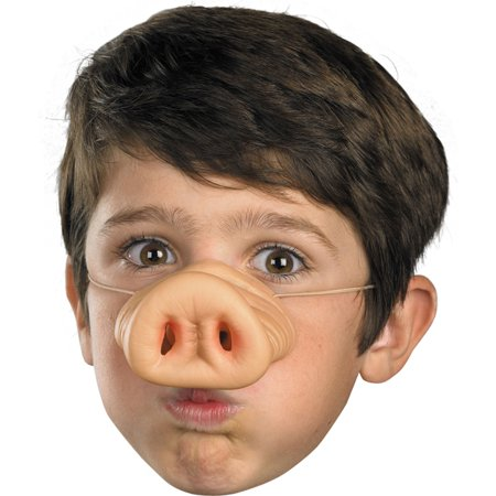 Morris Costumes New Pig Child Elastic Band Attached Vinyl Nose, Style DG14718 - Pig Noses