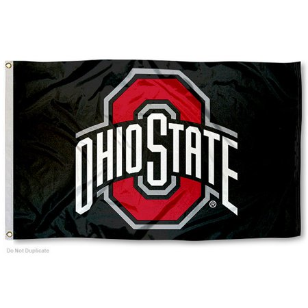 Ohio State University Buckeyes Black Flag
